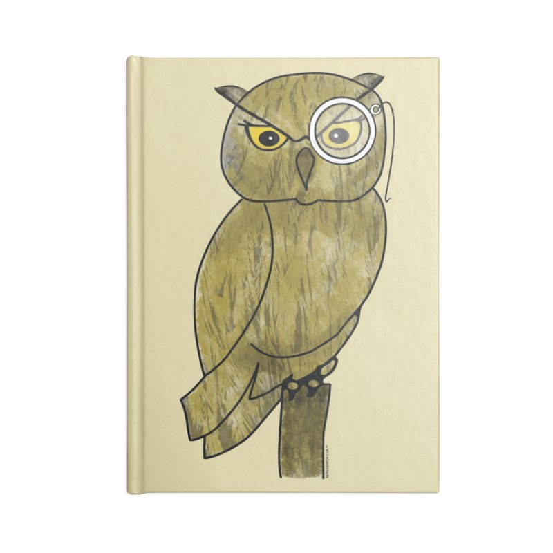 Owl w/ Monocle - Sir Hootington Accessories Notebook by Natina Norton Designs