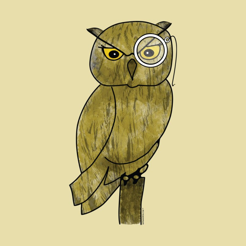 Owl w/ Monocle - Sir Hootington by Natina Norton Designs