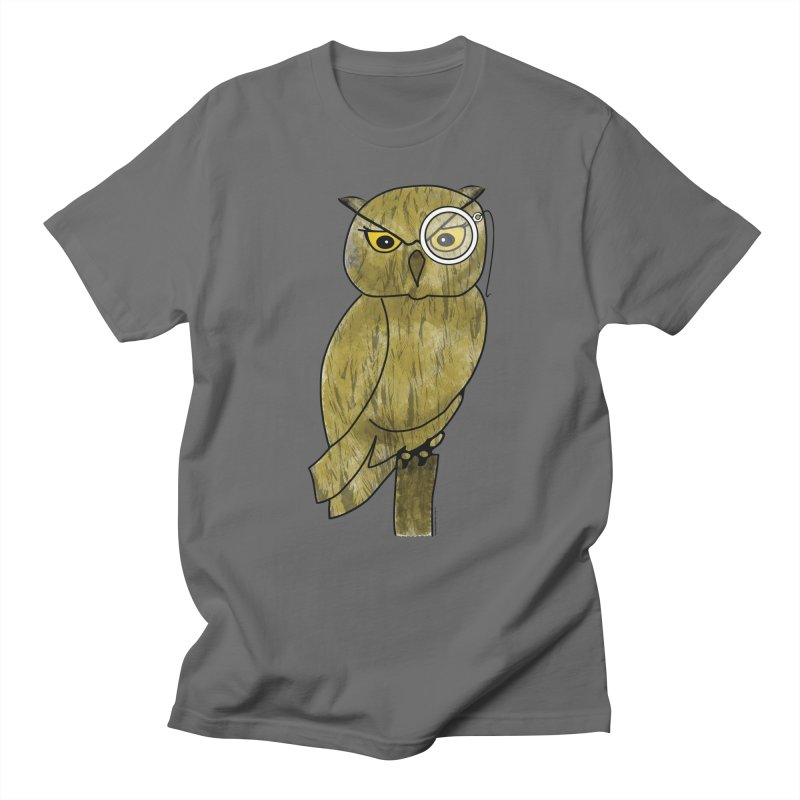 Wisenheimer Owl Men's Regular T-Shirt by Natina Norton Designs