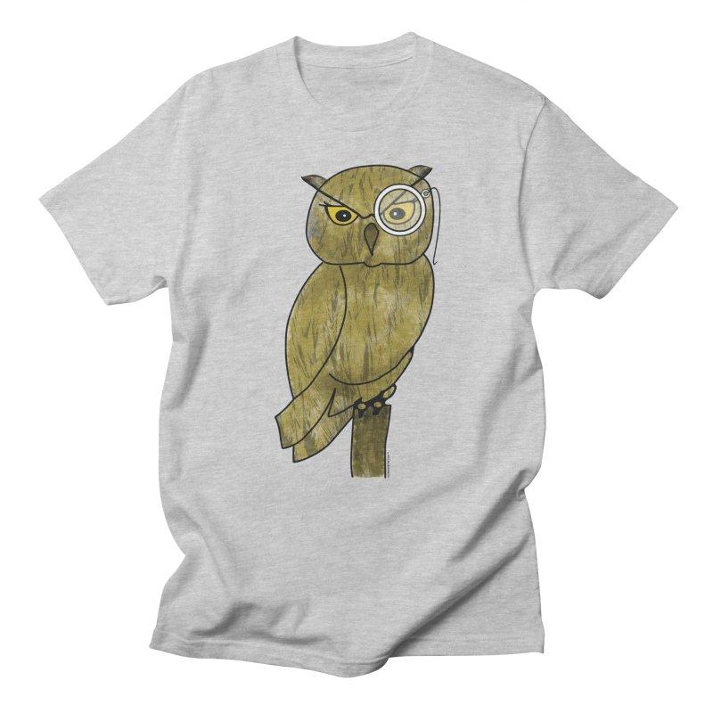 Wisenheimer Owl Women's Regular Unisex T-Shirt by Natina Norton Designs