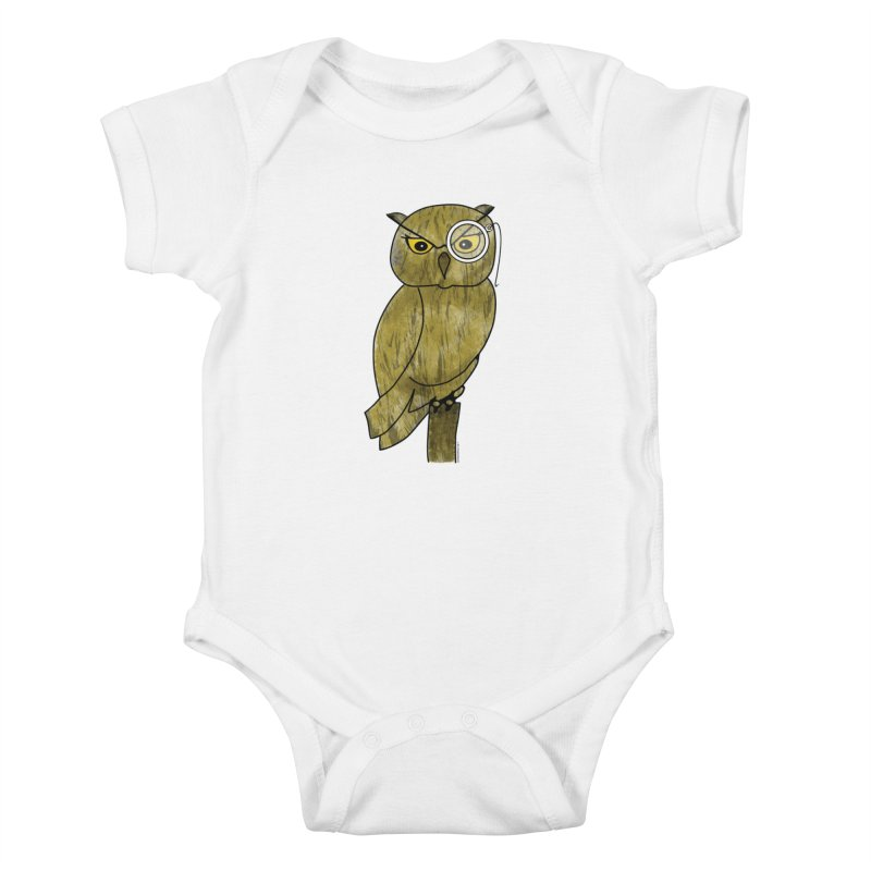 Wisenheimer Owl Kids Baby Bodysuit by Natina Norton Designs