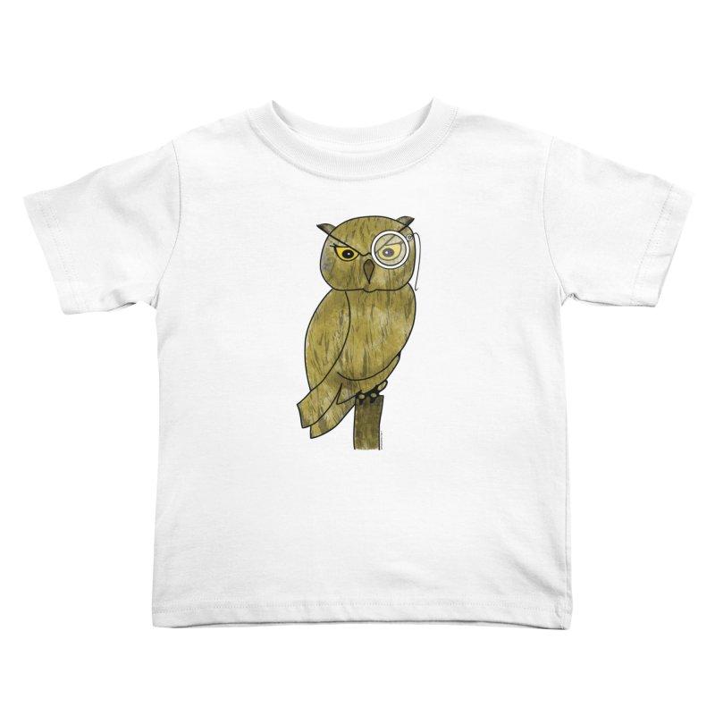 Wisenheimer Owl Kids Toddler T-Shirt by Natina Norton Designs