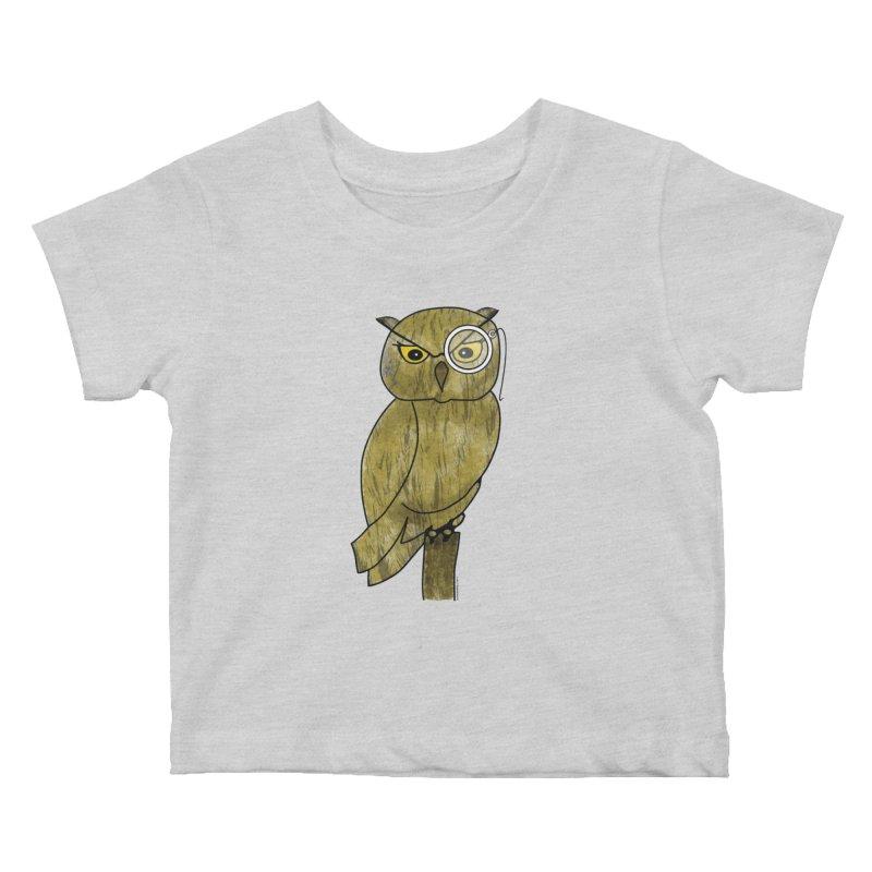 Wisenheimer Owl Kids Baby T-Shirt by Natina Norton Designs