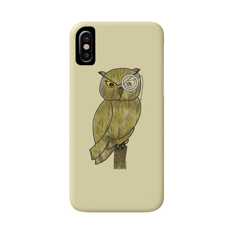 Sir Hootington - Owl Accessories Phone Case by Natina Norton Designs