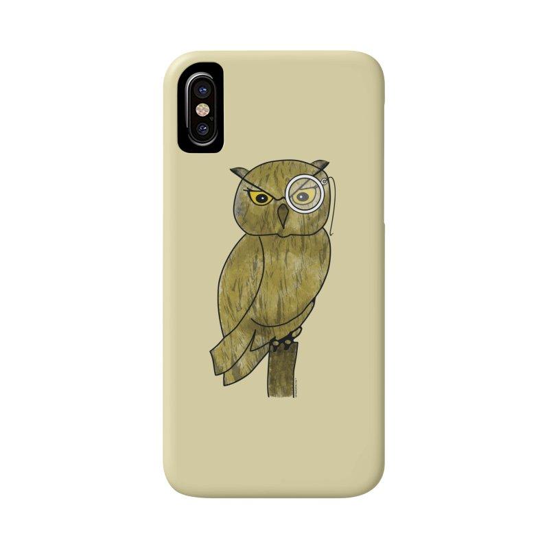 Owl w/ Monocle - Sir Hootington Accessories Phone Case by Natina Norton Designs