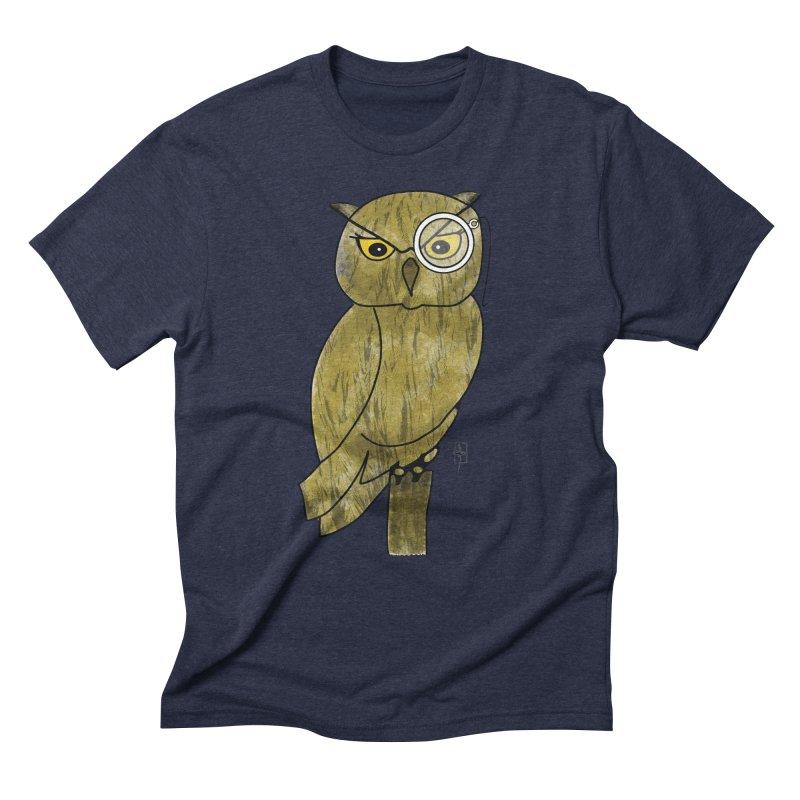 Sir Hootington Men's Triblend T-shirt by Hardcore Hardwear & Design Shop