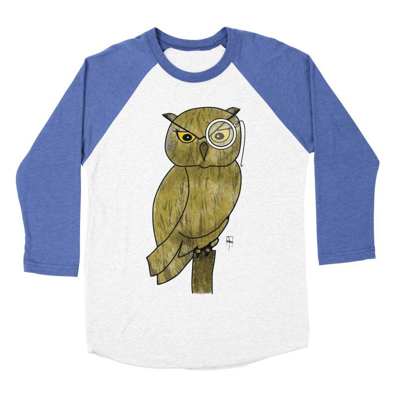 Sir Hootington Men's Baseball Triblend T-Shirt by Hardcore Hardwear & Design Shop