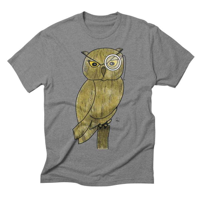 Sir Hootington Men's Triblend T-shirt by Hardcore Hardwear & Design Shop