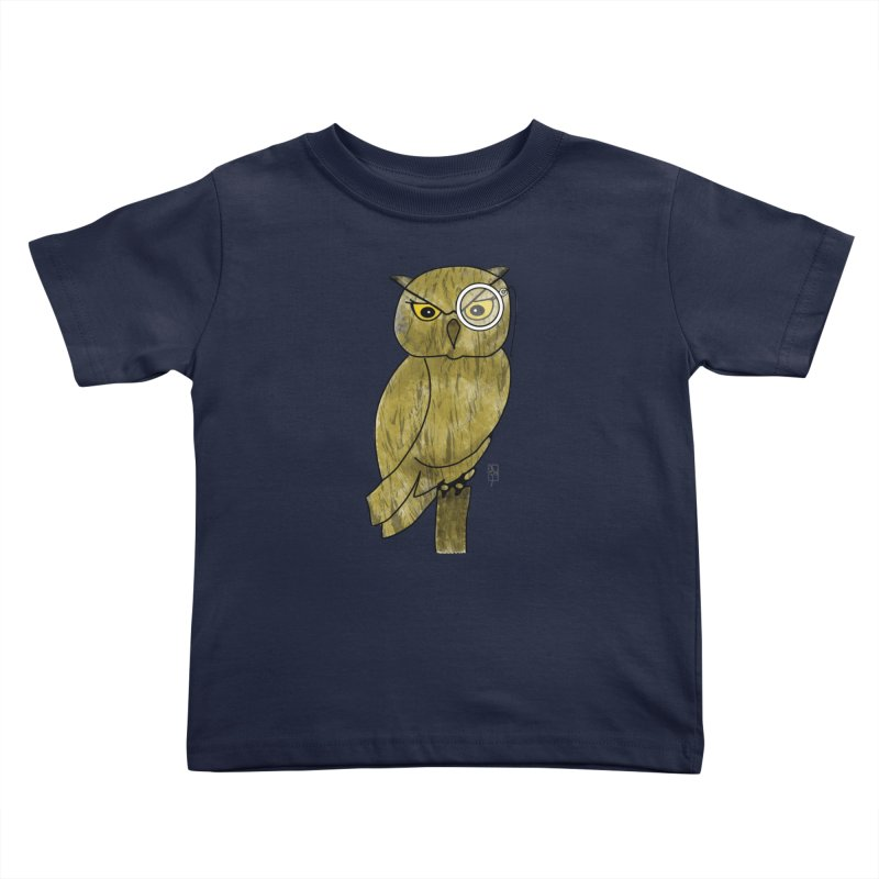 Sir Hootington Kids Toddler T-Shirt by Hardcore Hardwear & Design Shop