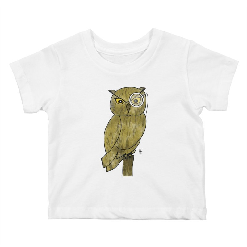 Sir Hootington Kids Baby T-Shirt by Hardcore Hardwear & Design Shop