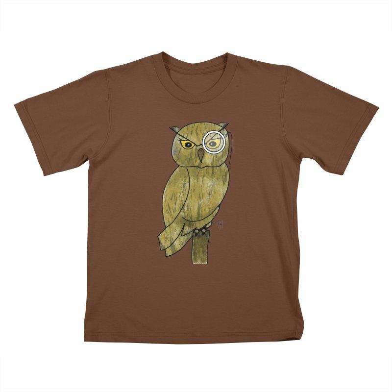 Sir Hootington Kids T-shirt by Hardcore Hardwear & Design Shop