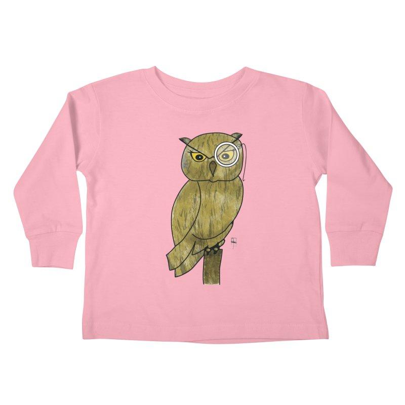 Sir Hootington Kids Toddler Longsleeve T-Shirt by Hardcore Hardwear & Design Shop