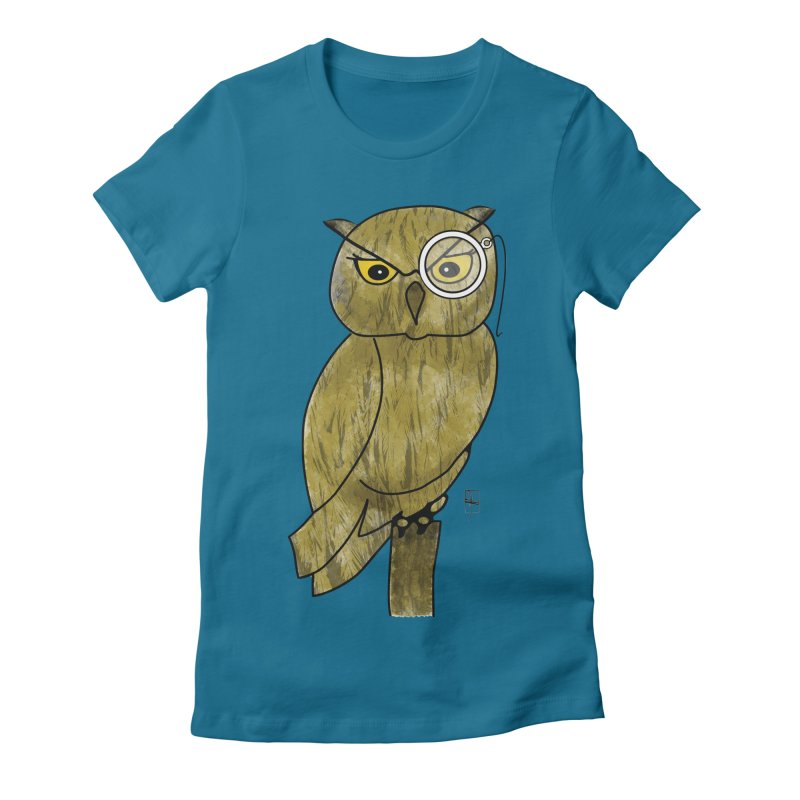 Sir Hootington Women's Fitted T-Shirt by Hardcore Hardwear & Design Shop