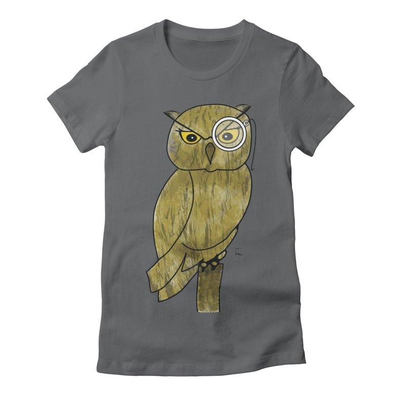 Sir Hootington Women's Fitted T-Shirt by Hardcore Hardwear & Design Shop