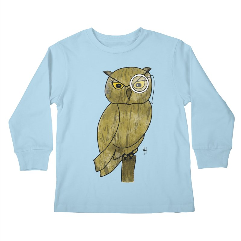 Sir Hootington Kids Longsleeve T-Shirt by Hardcore Hardwear & Design Shop
