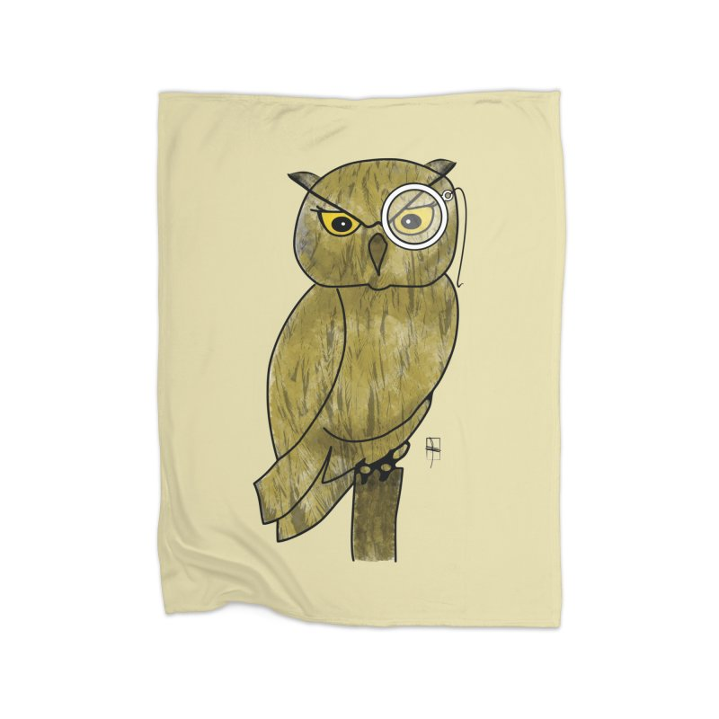 Sir Hootington Home Fleece Blanket by Hardcore Hardwear & Design Shop