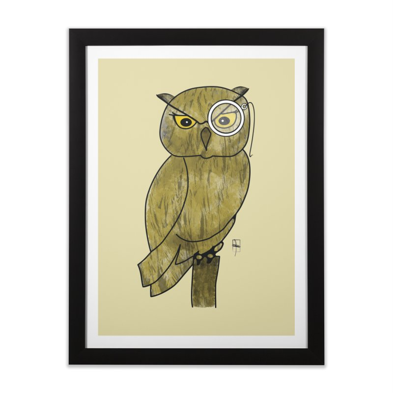 Sir Hootington Home Framed Fine Art Print by Hardcore Hardwear & Design Shop