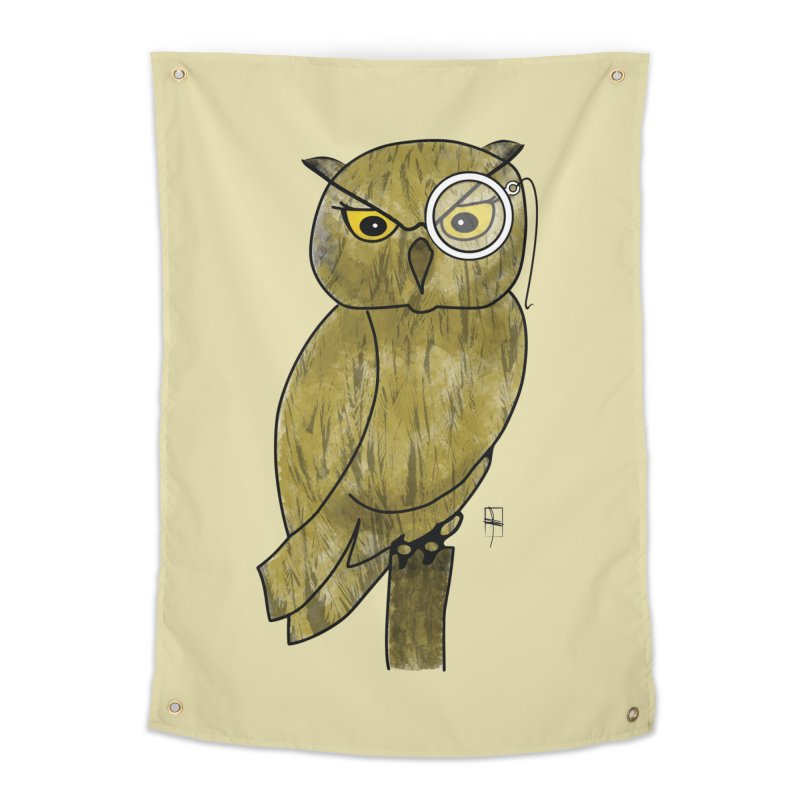 Sir Hootington Home Tapestry by Hardcore Hardwear & Design Shop