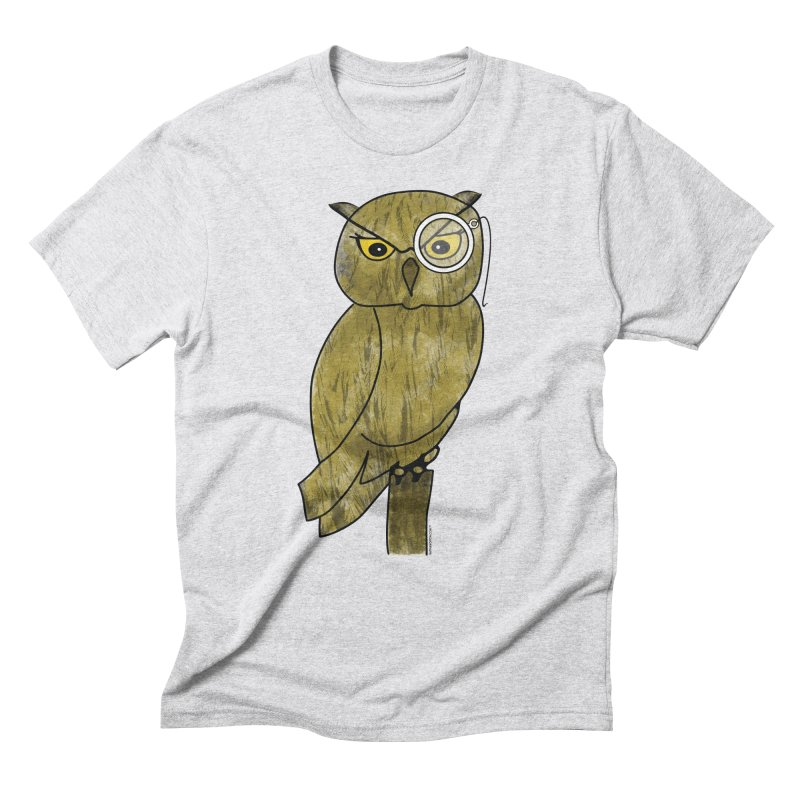 Sir Hootington - Owl Men's Triblend T-Shirt by Natina Norton Designs