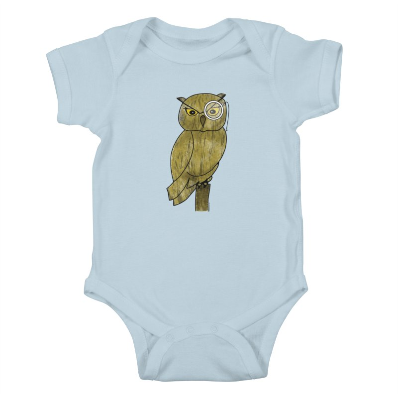 Sir Hootington - Owl Kids Baby Bodysuit by Natina Norton Designs