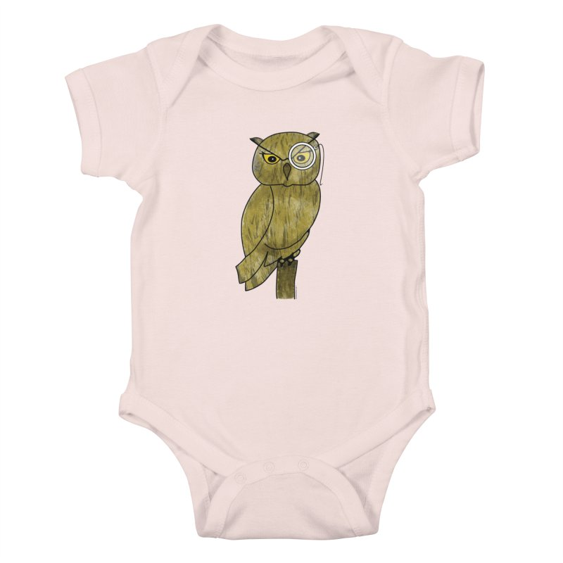 Sir Hootington - Owl Kids Baby Bodysuit by Natina Norton Designs
