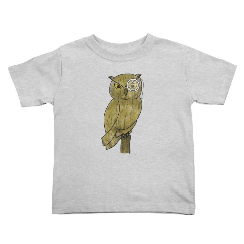Sir Hootington - Owl Kids Toddler T-Shirt by Natina Norton Designs