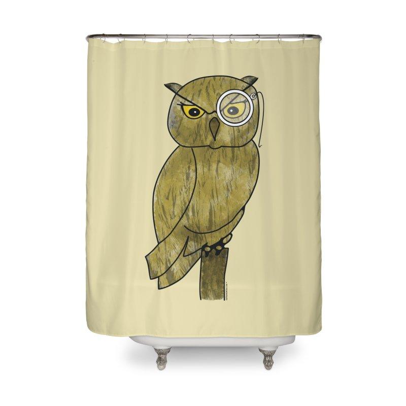 Sir Hootington - Owl Home Shower Curtain by Natina Norton Designs
