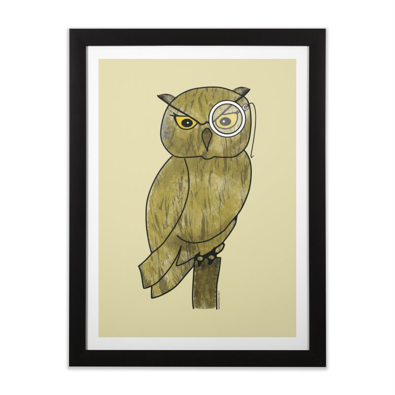 Sir Hootington - Owl Home Framed Fine Art Print by Natina Norton Designs