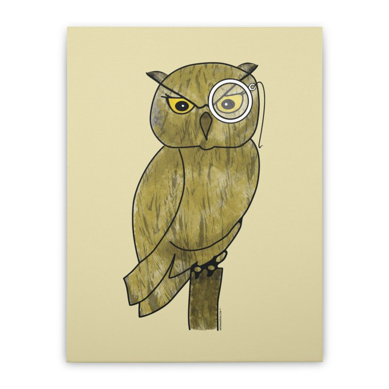 Sir Hootington - Owl Home Stretched Canvas by Natina Norton Designs