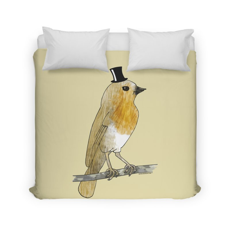 Bird in a Top Hat - Lord Robin Cheerily Home Duvet by Natina Norton Designs