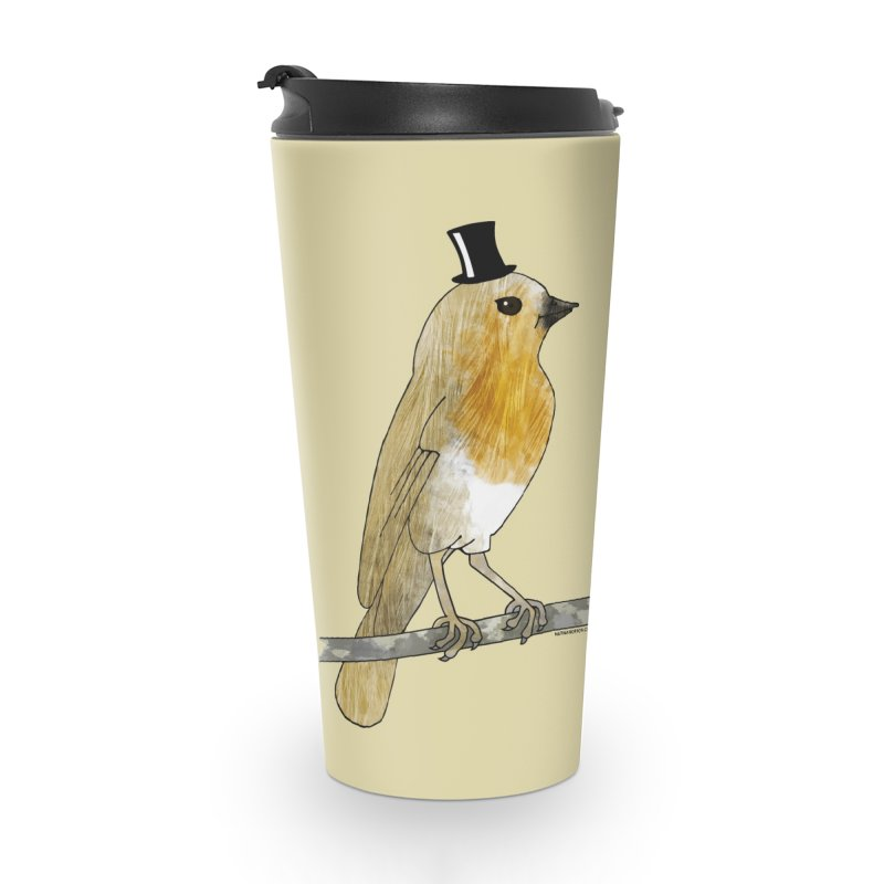 Bird in a Top Hat - Lord Robin Cheerily Accessories Mug by Natina Norton Designs