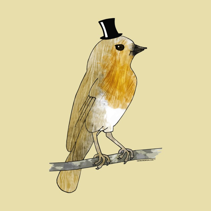 Bird in a Top Hat - Lord Robin Cheerily Accessories Phone Case by Natina Norton Designs