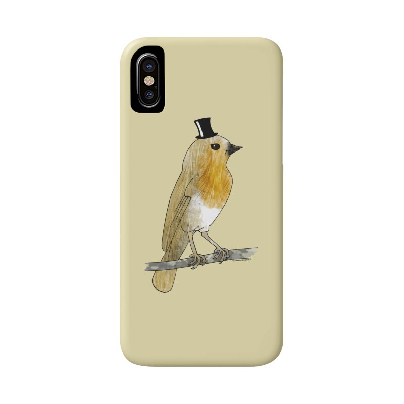 Lord Robin Cheerily - Bird Accessories Phone Case by Natina Norton Designs