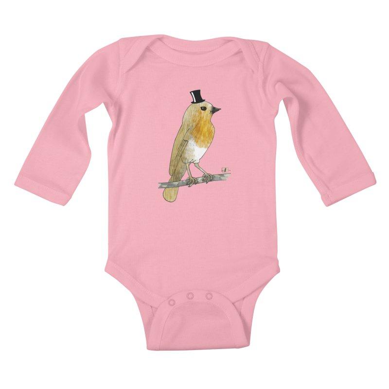 Lord Robin Cheerily Kids Baby Longsleeve Bodysuit by Hardcore Hardwear & Design Shop