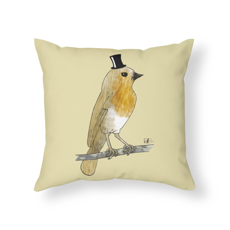 Lord Robin Cheerily Home Throw Pillow by Hardcore Hardwear & Design Shop