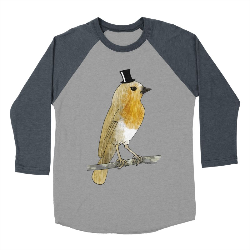 Lord Robin Cheerily - Bird Women's Baseball Triblend T-Shirt by Natina Norton Designs