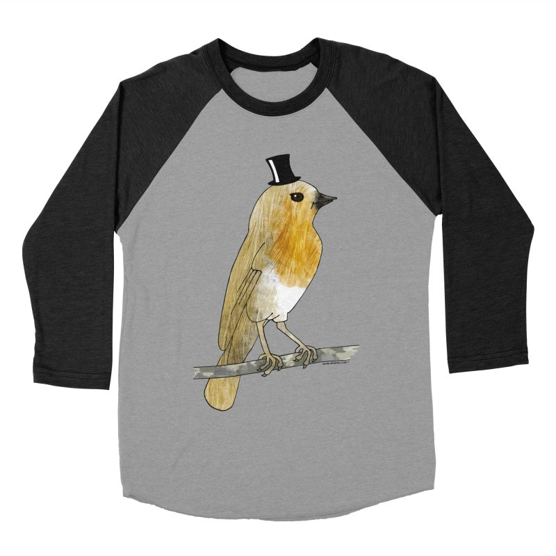 Lord Robin Cheerily - Bird Men's Baseball Triblend T-Shirt by Natina Norton Designs