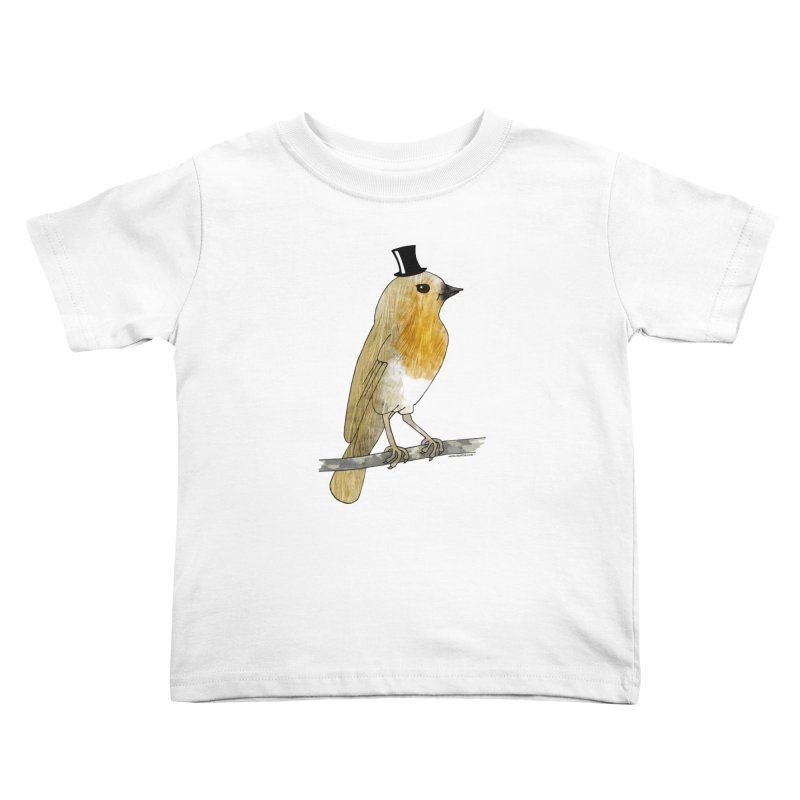Lord Robin Cheerily - Bird Kids Toddler T-Shirt by Natina Norton Designs