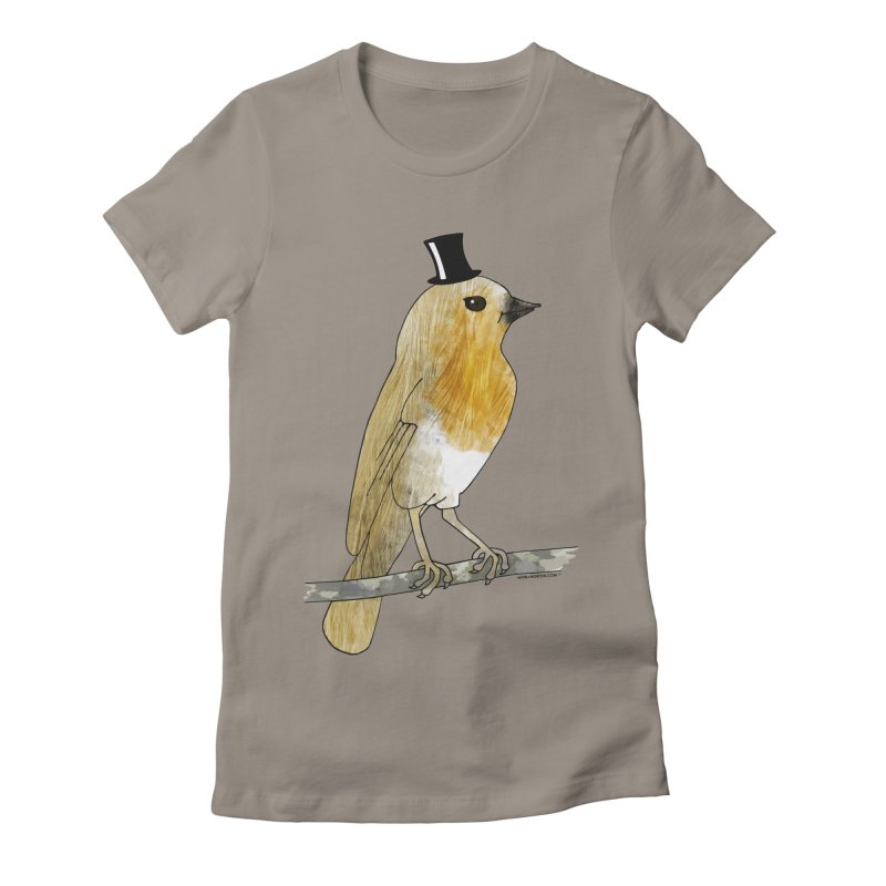 Lord Robin Cheerily - Bird Women's Fitted T-Shirt by Natina Norton Designs