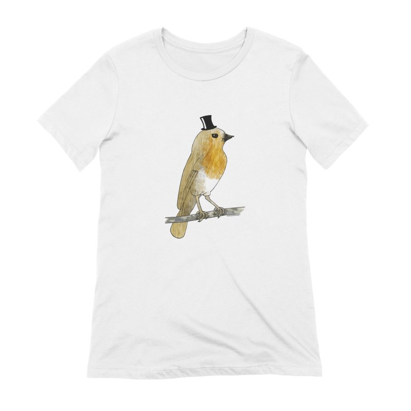 Bird in a Top Hat - Lord Robin Cheerily Women's T-Shirt by Natina Norton Designs
