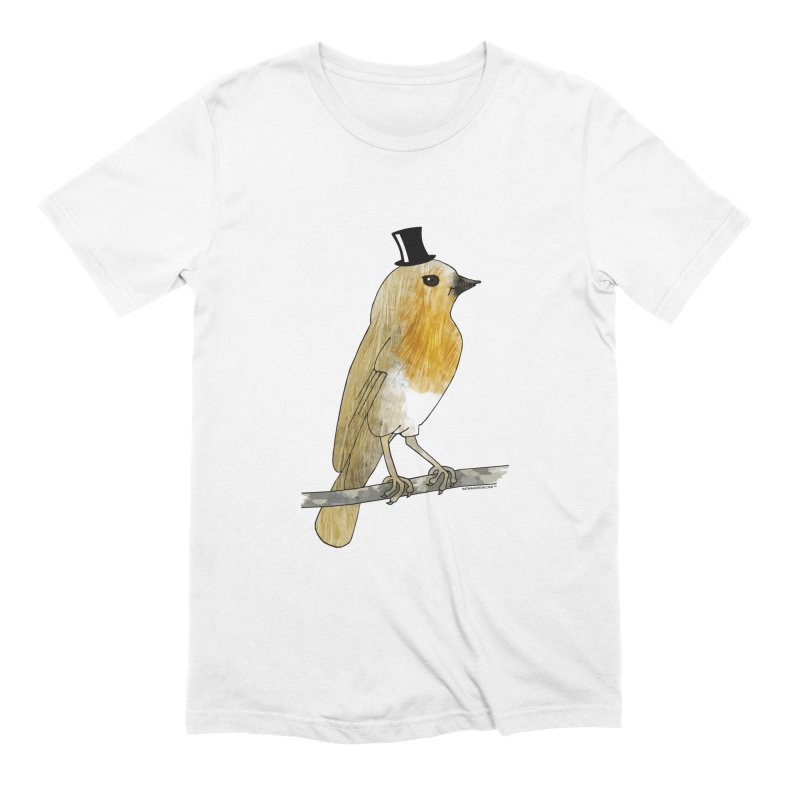 Bird in a Top Hat - Lord Robin Cheerily Men's Extra Soft T-Shirt by Natina Norton Designs