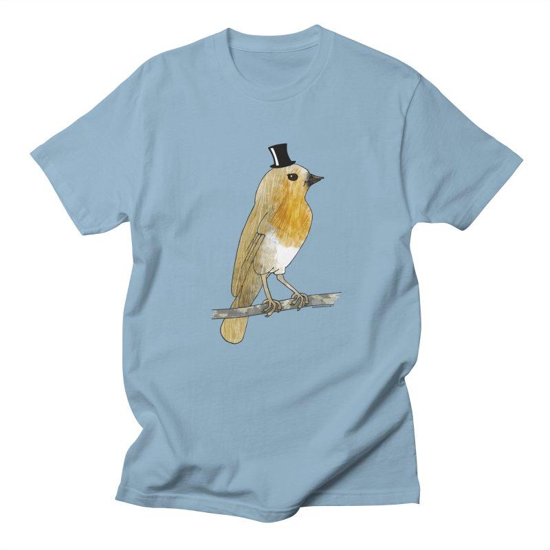 Bird in a Top Hat - Lord Robin Cheerily Women's Regular Unisex T-Shirt by Natina Norton Designs