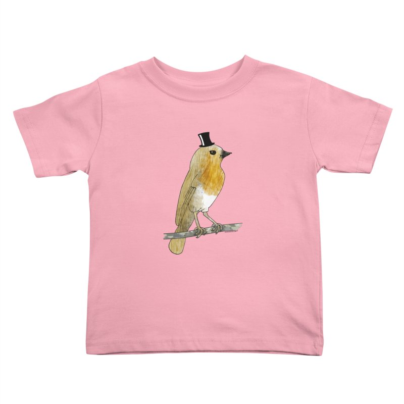 Bird in a Top Hat - Lord Robin Cheerily Kids Toddler T-Shirt by Natina Norton Designs