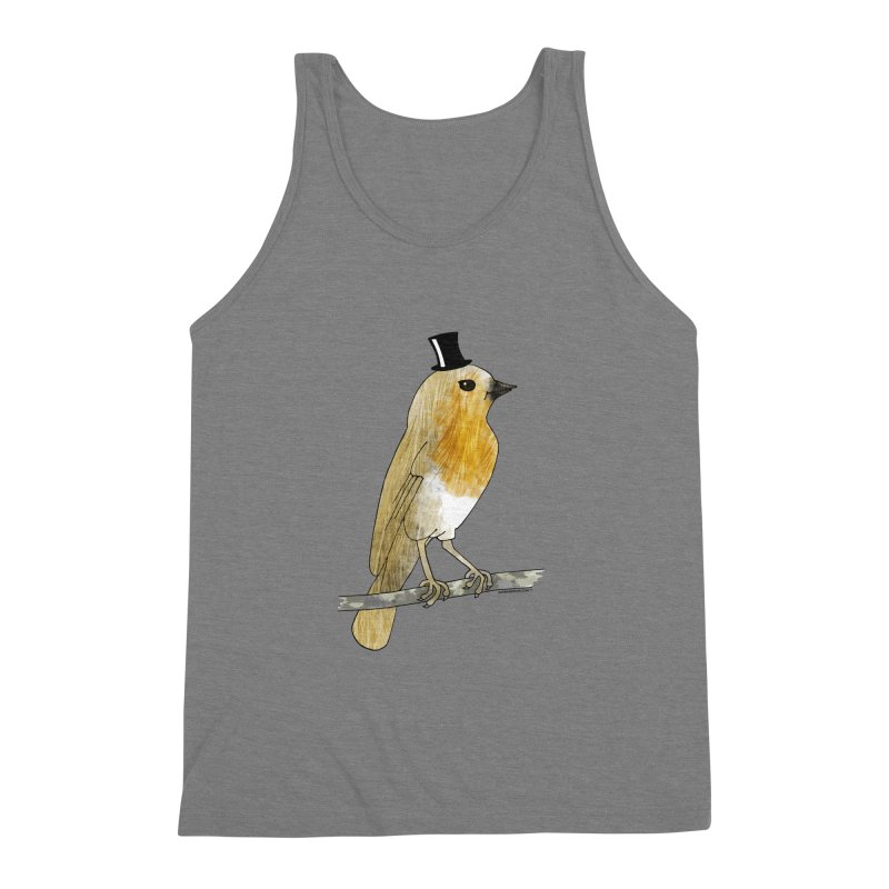 Bird in a Top Hat - Lord Robin Cheerily Men's Triblend Tank by Natina Norton Designs