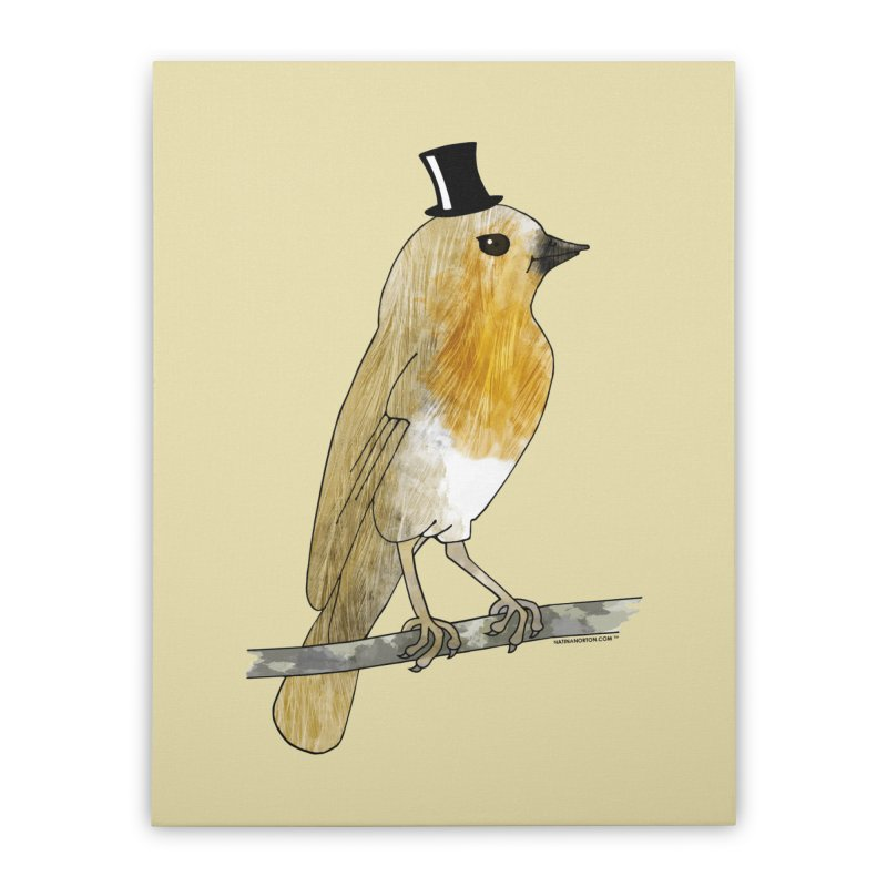 Lord Robin Cheerily - Bird Home Stretched Canvas by Natina Norton Designs