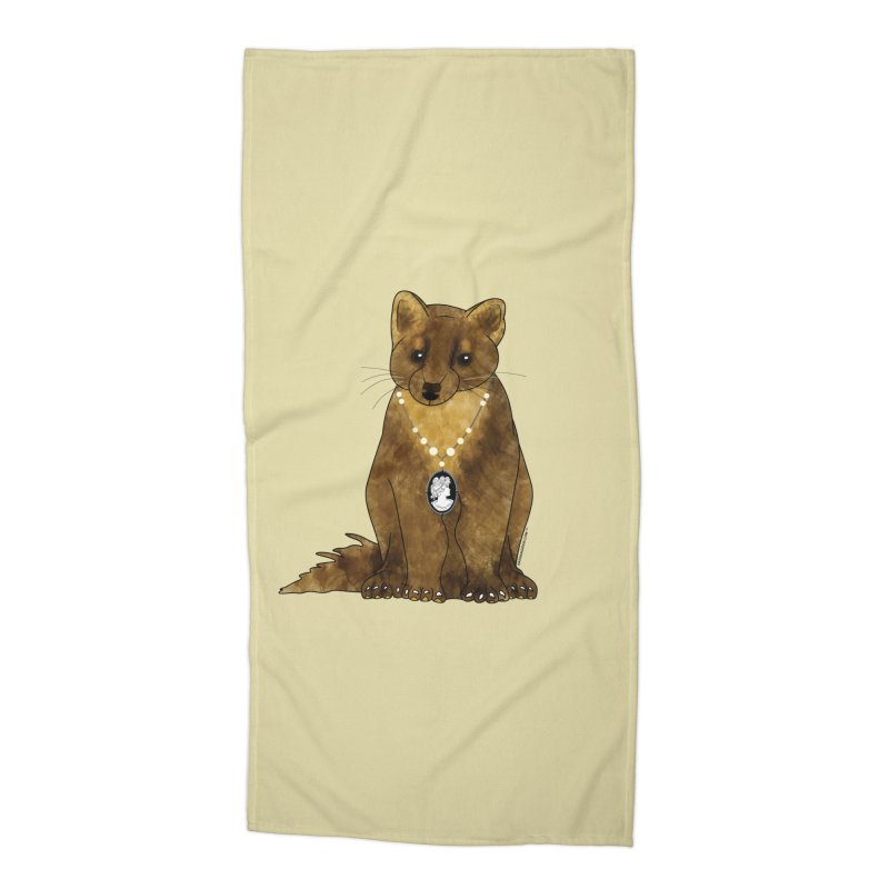 Lady Pine Marten Accessories Beach Towel by Natina Norton Designs