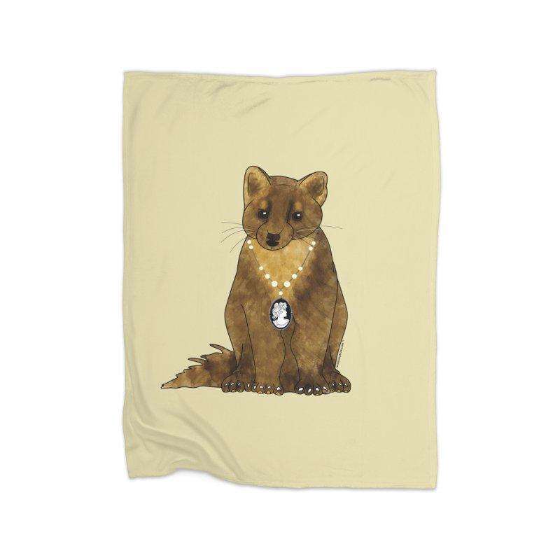 Lady Pine Marten Home Fleece Blanket by Natina Norton Designs