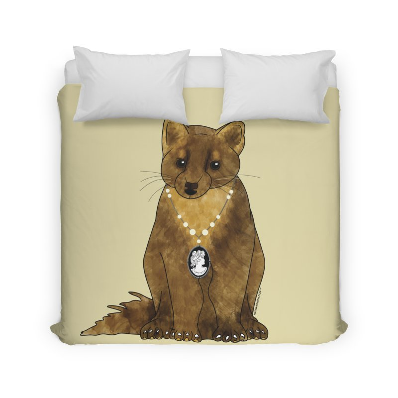 Classy Cameo - Lady Pine Marten Home Duvet by Natina Norton Designs