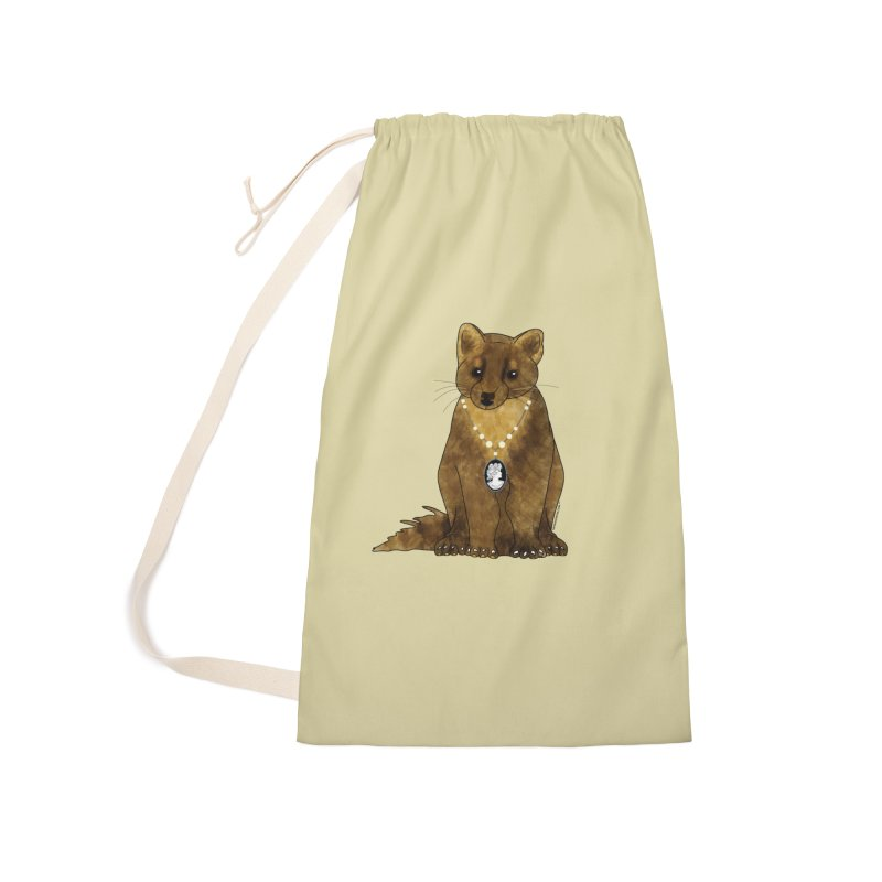 Classy Cameo - Lady Pine Marten Accessories Laundry Bag Bag by Natina Norton Designs