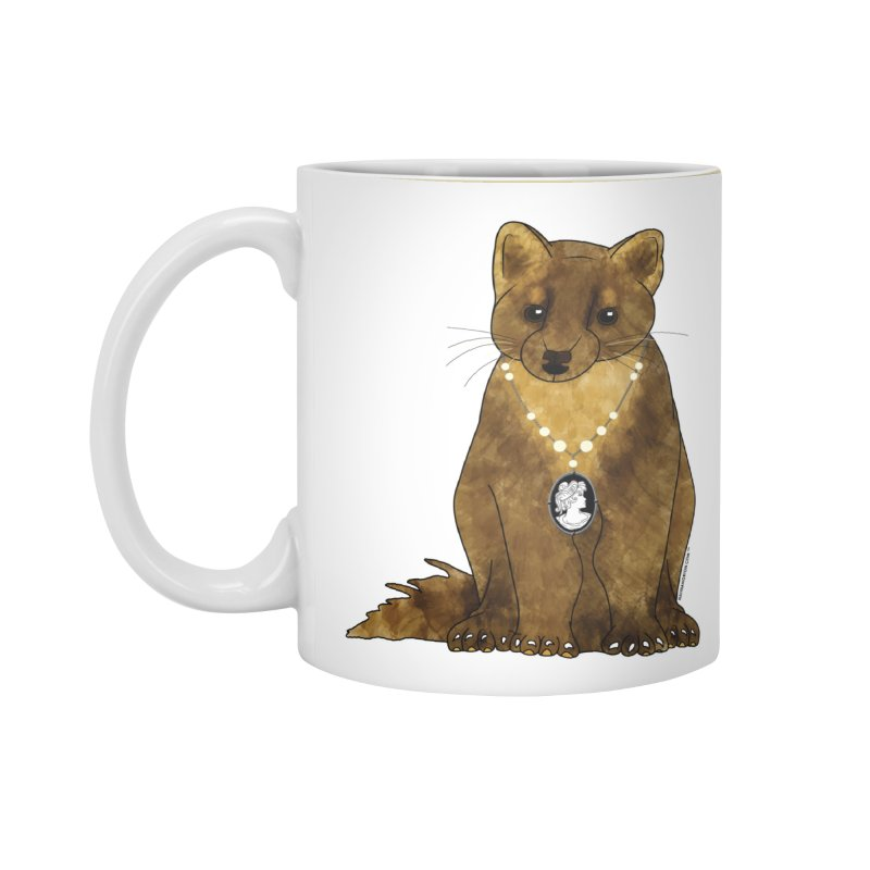Classy Cameo - Lady Pine Marten Accessories Standard Mug by Natina Norton Designs
